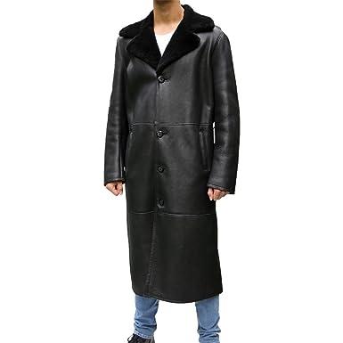 Hollert German Leather Fashion Lammfellmantel - ADAM Herren Mantel  Wintermantel Merino Fellmantel Echtleder schwarz  Amazon.de  Bekleidung 5e75e0cce9