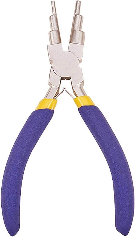 dongwenchao1104 DIY Carbon Stahl Runde Nase Zangen Nickel Eisen Zangen Hand Werkzeuge Schmuck Zubeh/ör der Sechs-Abschnitt PliersIY