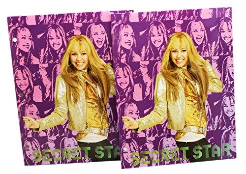 Purple Secret Star Hannah Montana Folder Set (2 Piece)