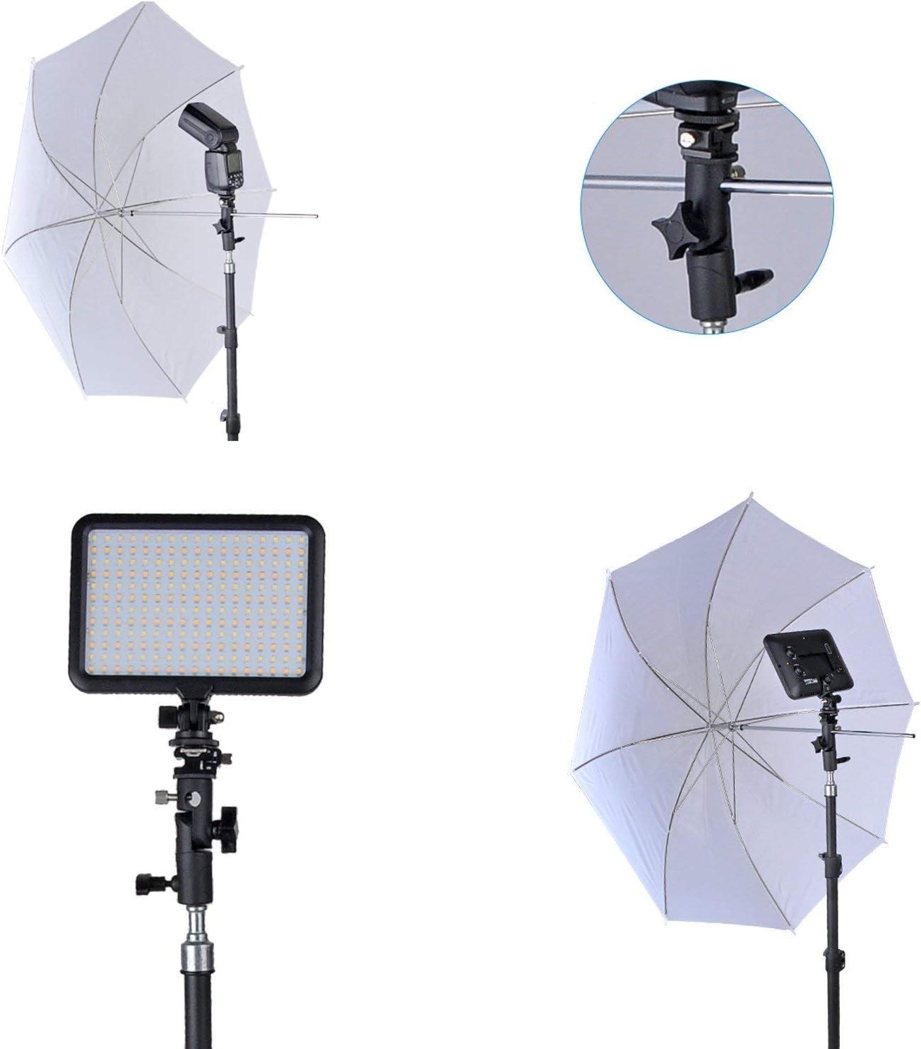 Semoic Camera Flash Speedlite Mount,Professional Swivel Light Stand Light Bracket Umbrella Bracket Mount Shoe Holder E Type for Canon Nikon Pentax Olympus and Speedlite Flashe