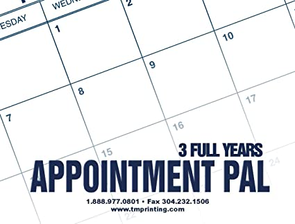 3 year calendar appointment pal 2018 2019 2020
