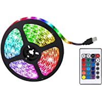 LED Strip Lights RGB Kleurveranderende Verlichting, RGB Kleurveranderende LED Strip Lights Volledige Kit met…