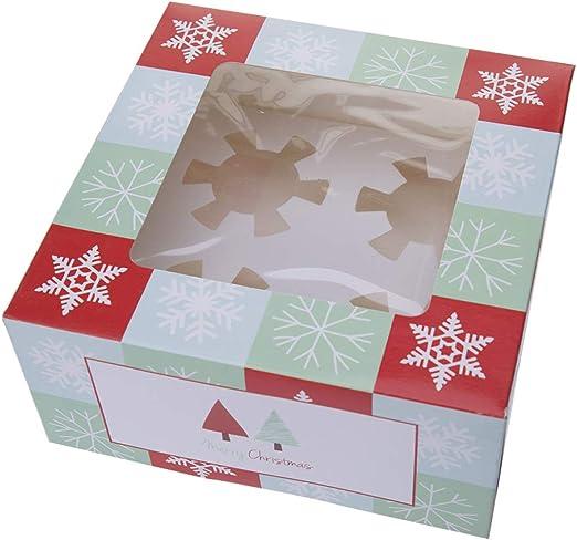 ichangyi - Caja de Caramelos con diseño de Papá Noel: Amazon.es: Hogar