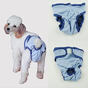 Pet Dog Puppy Physiological Menstrual Sanitary Nappy Diaper Pant Underwear 3 Sizes M
