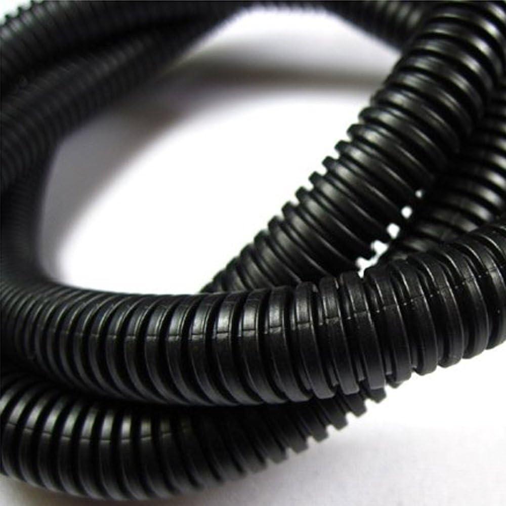 7 10 13 18 25mm Wellrohr Wellschlauch geschlitztes Kabel Schutz Rohr Isolierrohr