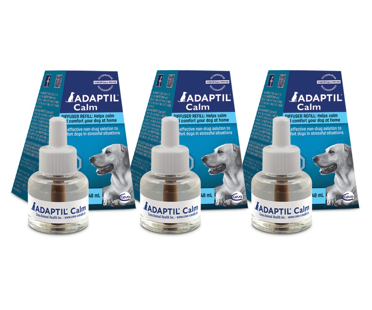 90 Day Supply ADEGIL Diffuser Refuill for Dogs, 3 -Pack (D.A.P. Dog appesing Pheromone Refell) Fornisce Constant Calming and Comfort at Home (90 Day Supply)