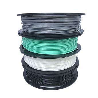 4 filamentos de plástico de TPU para impresora 3D de 1,75 mm, 200 ...