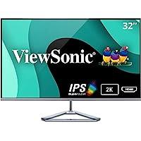 ViewSonic VX3276-2K-MHD Monitor Komputerowy, 32 Cale, Czarny/Srebrny