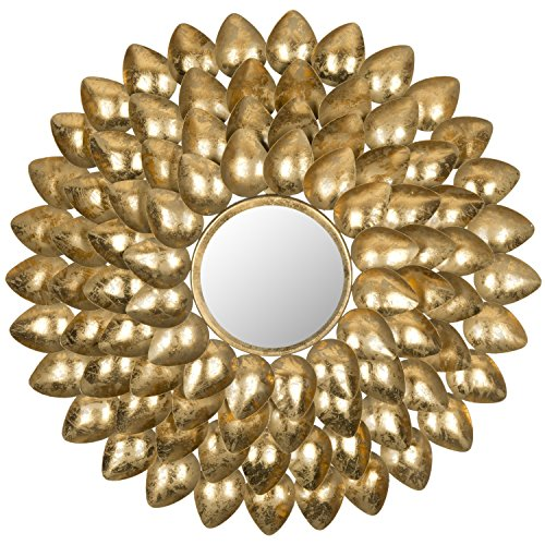 Safavieh Home Collection Woodland Sunburst Mirror, Antique Gold