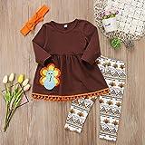 3Pcs Kids Toddler Baby Girls Turkey T-Shirt Top