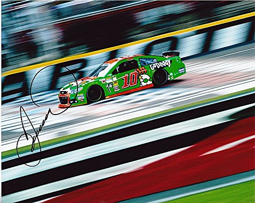 Speedway Nascar Picture - AUTOGRAPHED 2014 Danica Patrick #10 GoDaddy Racing Team CHARLOTTE MOTOR SPEEDWAY (On-Track) Signed 8X10 Picture NASCAR Glossy Photo with COA