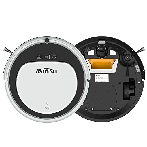Automatic Robot Vacuum Cleaner, Strong Suction Remote Control Self-Charging Quiet Cleaner MSTC09 Black White