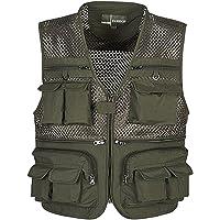Prettyia Multi-pocket Fishing Mesh Vest Hiking Work Photography Reporter Sleeveless Jacket Waistcoat - 5 Sizes/2 Colors