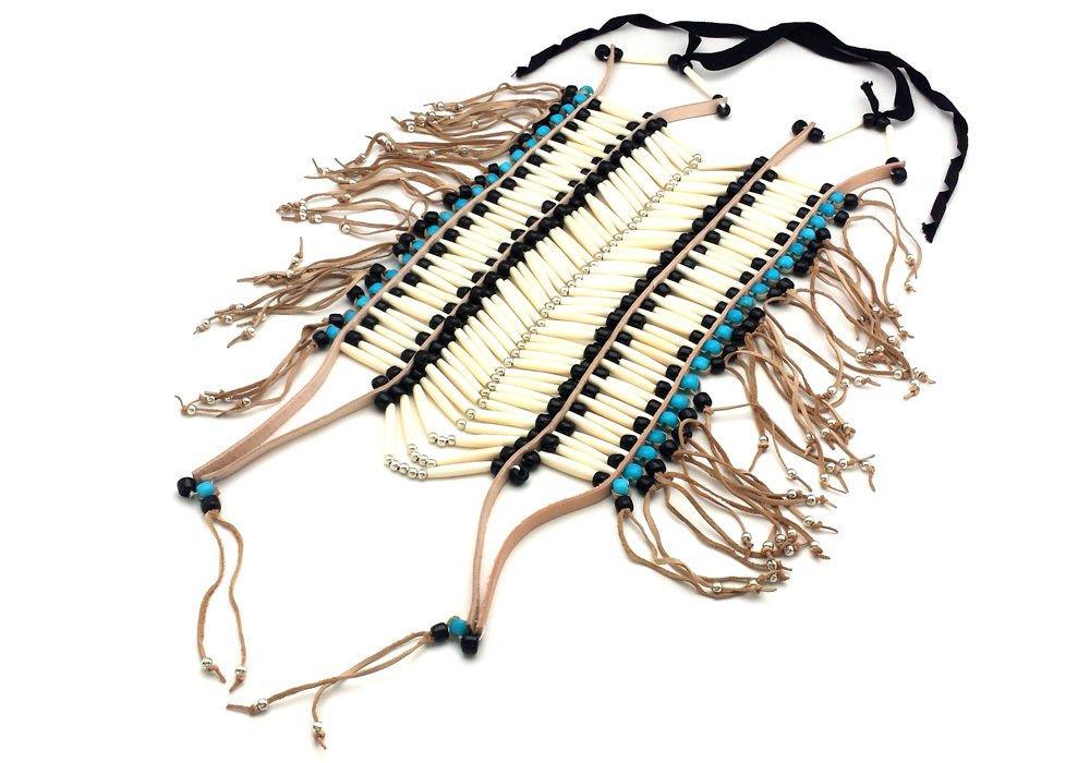 Handmade Large Traditional White Buffalo Bone Hairpipe Tribal Breastplate