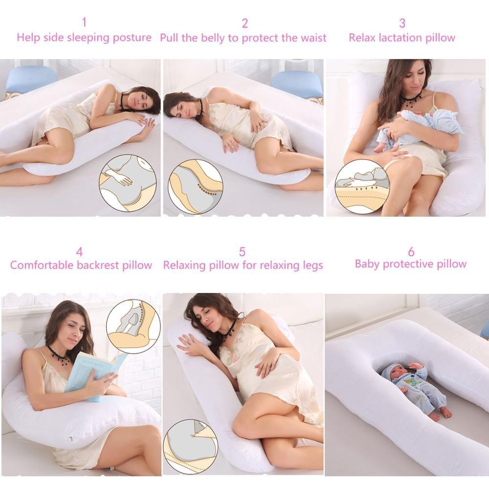 YSCCSY Body Pillow Ultra Luxury Bamboo Shredded Memory Foam Full Size Body Pillow con enfriamiento Respirable Almohada hipoalerg/énica Tela Externa,Pink
