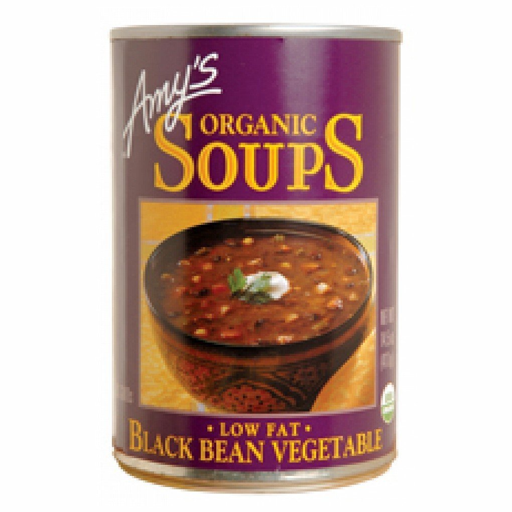 Amy's Organic Black Bean Vegetable Soup, 14.5-ounce Cans [Pack of 6]