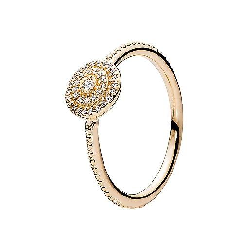 nuovo stile cde47 6462a Pandora anello da donna oro bianco 585 fine eleganza a getto ...