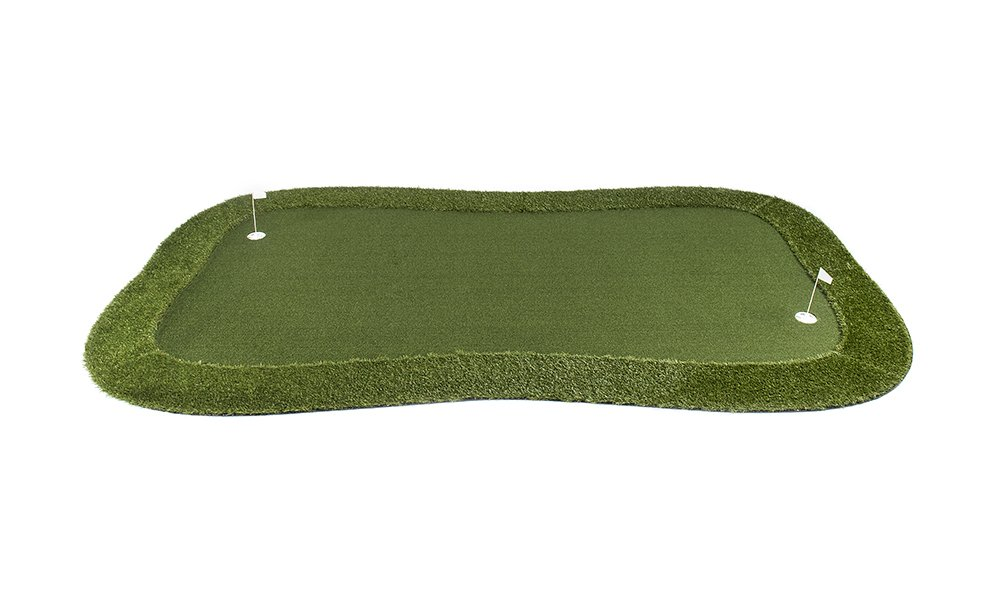 Professional Synthetic Nylon Turf Practice Putting Green with Fringe - 8 feet x 14 feet