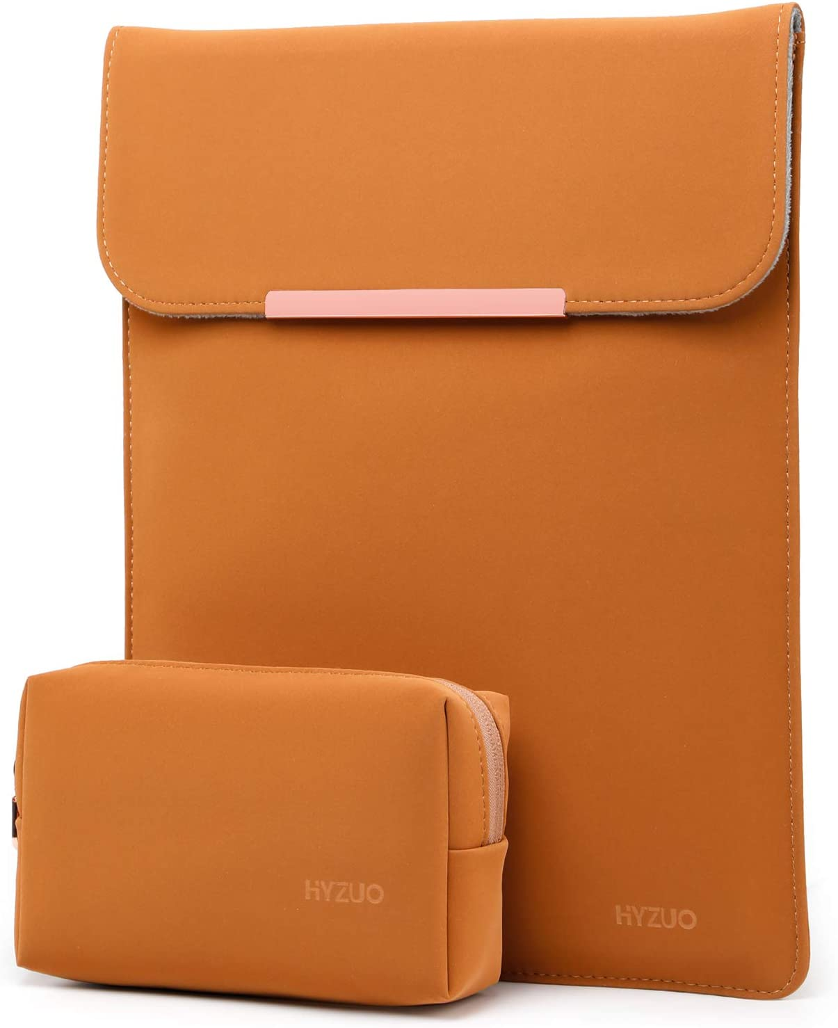 HYZUO 13 Inch Laptop Sleeve Case Compatible with 2020 2019 2018 MacBook Air 13 A2179 A1932/ MacBook Pro 13 2016-2020/ iPad Pro 12.9 2018 2020/ Dell XPS 13/ Surface Pro X 7 6 5 4 3, Brown