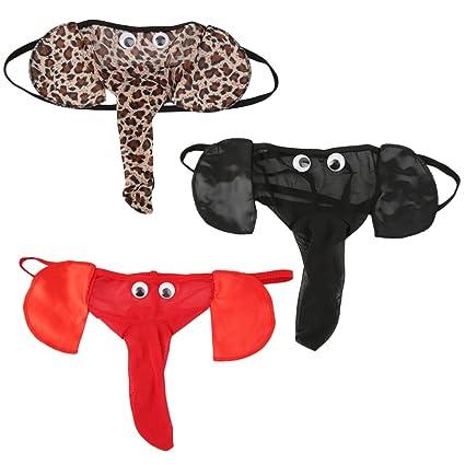 FairytaleMM Lencería de Hombre Tanga T-Back Tangas Ropa Interior Pantalones de Elefante Briefs Bottom