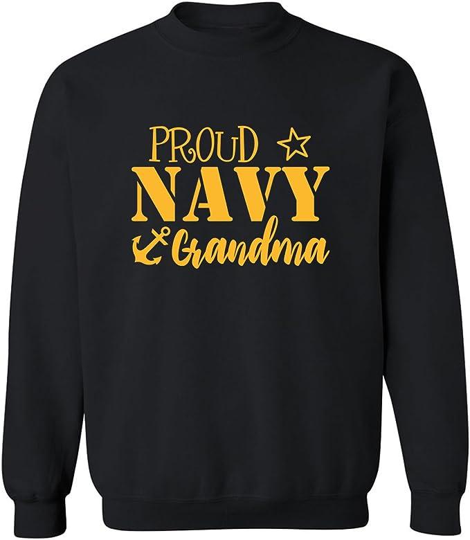 ZeroGravitee Proud Navy Grandma Crewneck Sweatshirt