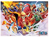 One Piece Anime 1000p Jigsaw Puzzle Each Crew's Ability, Collection Oda Eichiro Haksan 1758 Hobby Home Decoration DIY