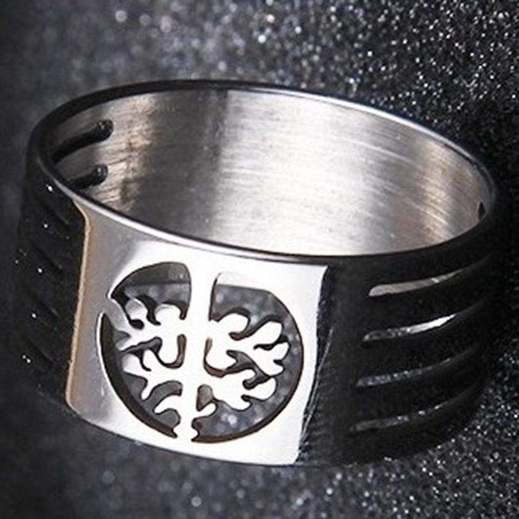JA Norse Viking Tree of Life Ring Stainless Steel Hollow Wisdom Tree Ring