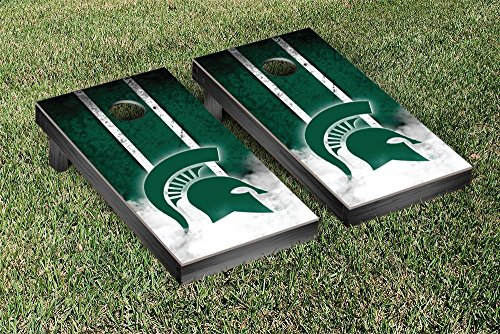 Michigan State Spartans Regulation Cornhole Game Set Vintage Version by Victory Tailgate