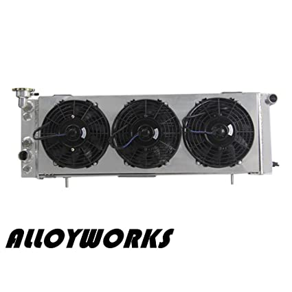 "ALLOYWORKS 3 Row Core Aluminum Radiator + Fan Shroud (3 x 9"" Fans)"
