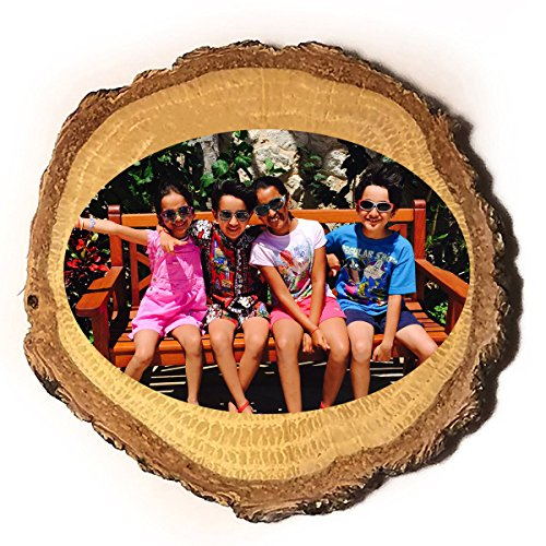 Customized Personalized Wooden Rustic Log Custom Magnet with Your Photo Printed in Full Color ()
