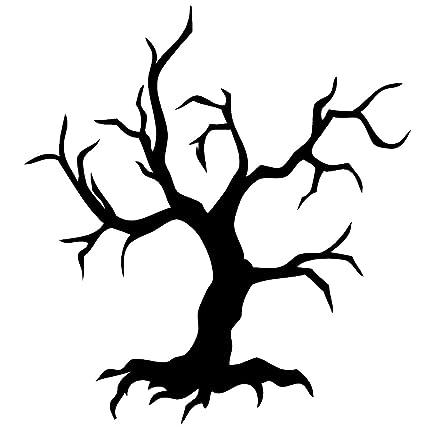 amazon com newclew tree spooky halloween wall decal sticker art fun rh amazon com Halloween Clip Art Spooky Tree Sketch