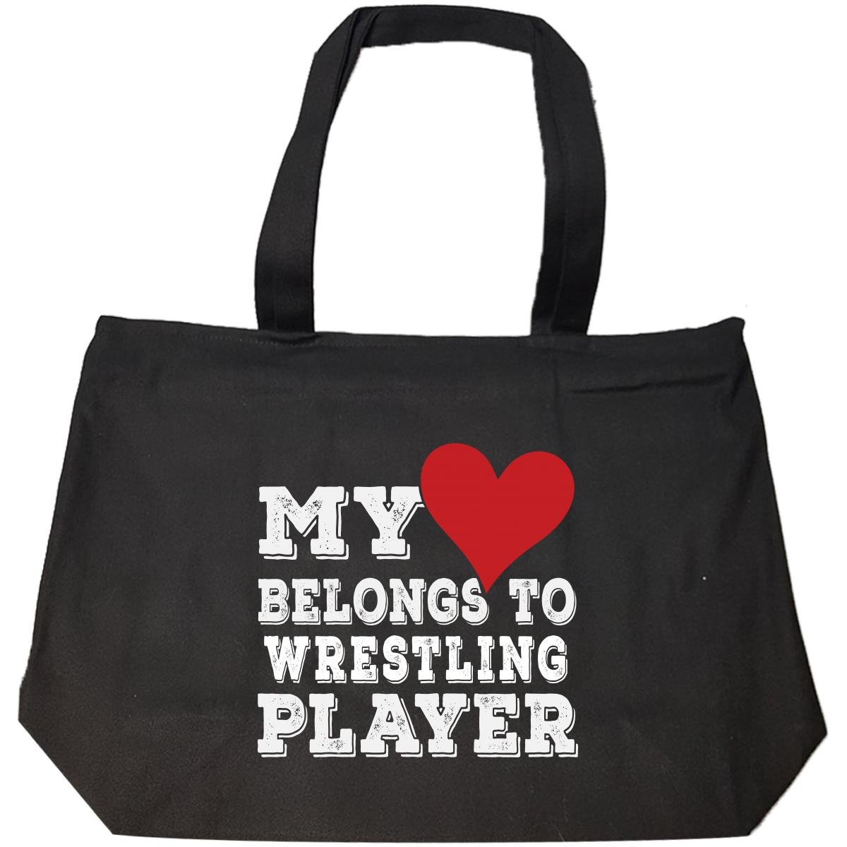 My Heart Belongs To A Wrestling Player - Tote Bag With Zip by URBANTURB