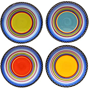 Certified International Tequila Sunrise Dinner Plate 11-Inch Assorted Designs Set of  sc 1 st  Amazon.com & Amazon.com | Certified International Tequila Sunrise Dinner Plate ...