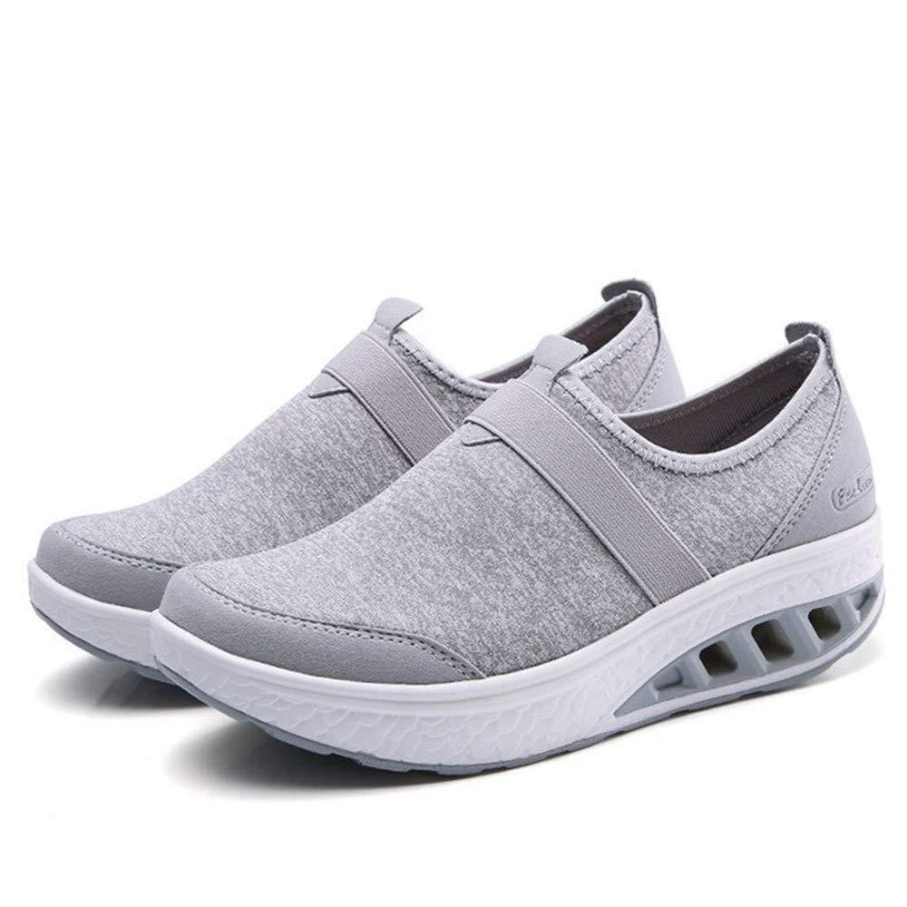 YSFU Turnschuhe Turnschuhe Damen Freizeitschuhe Damen Spitze Bequeme Schuhe Schuhe Schuhe Damen Atmungsaktive Flache Schuhe Dämpfung Leichtes Outdoor d183fa