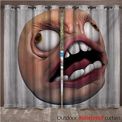 Amazon Com Blountdecor Humor Porch Curtains Angry Rage Guy Meme