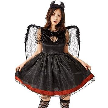 SDGFGW Costume di Halloween Halloween Fallen Black Angel Cosplay ...