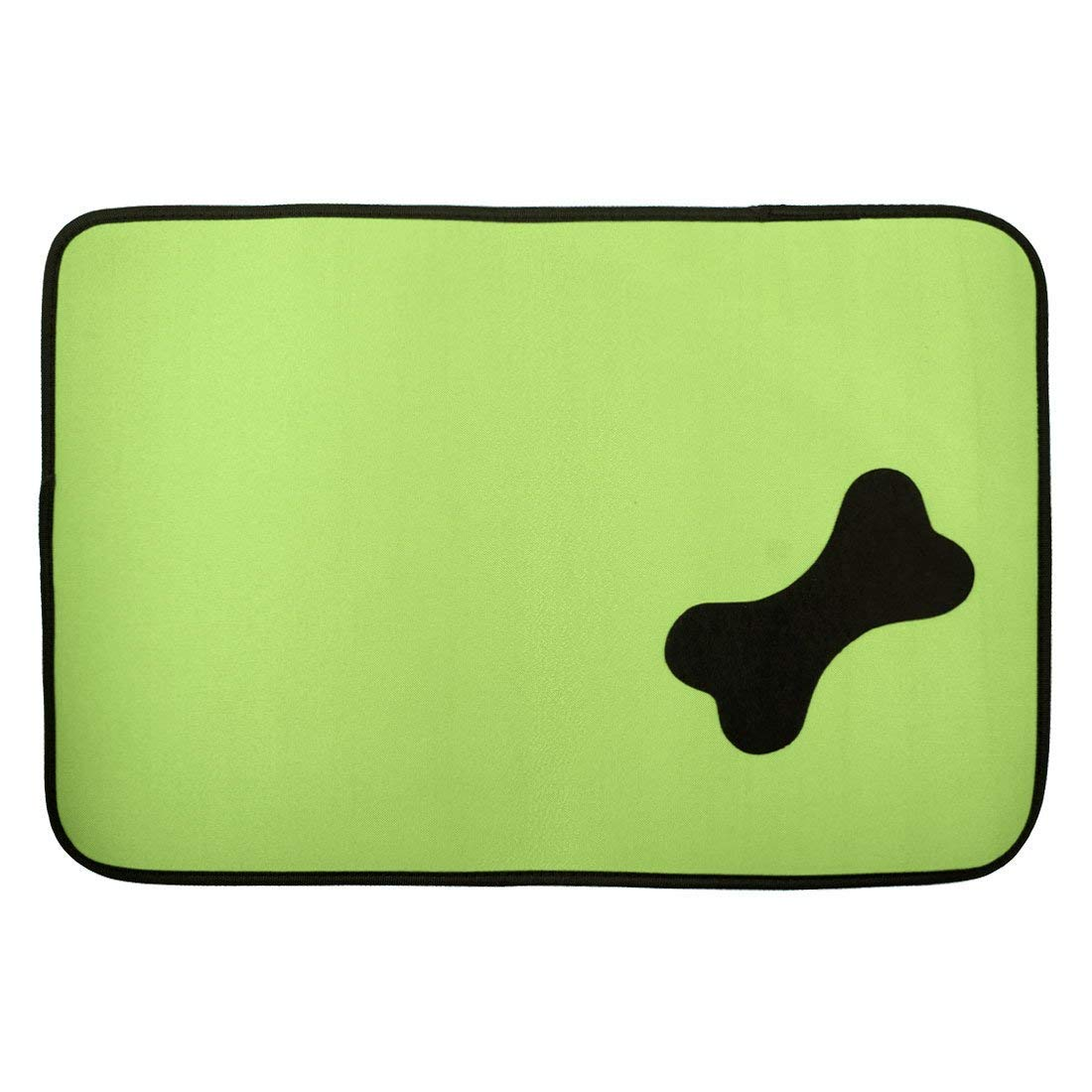 1Pc Black,Red   Oxford Cloth Rectangular Shaped Household Bone Pattern Pet Dog Doormat Mat Pad