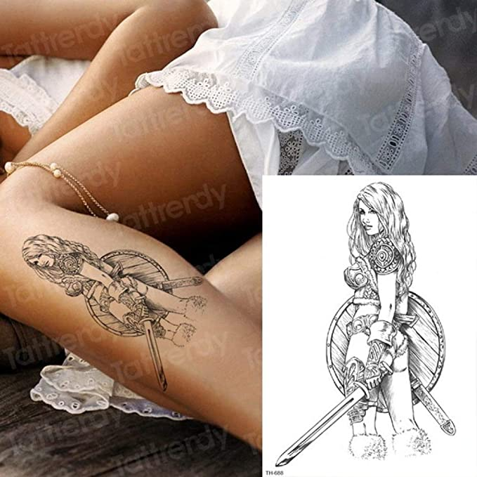 Handaxian 3pcs-Etiqueta engomada del Tatuaje Temporal Samurai ...