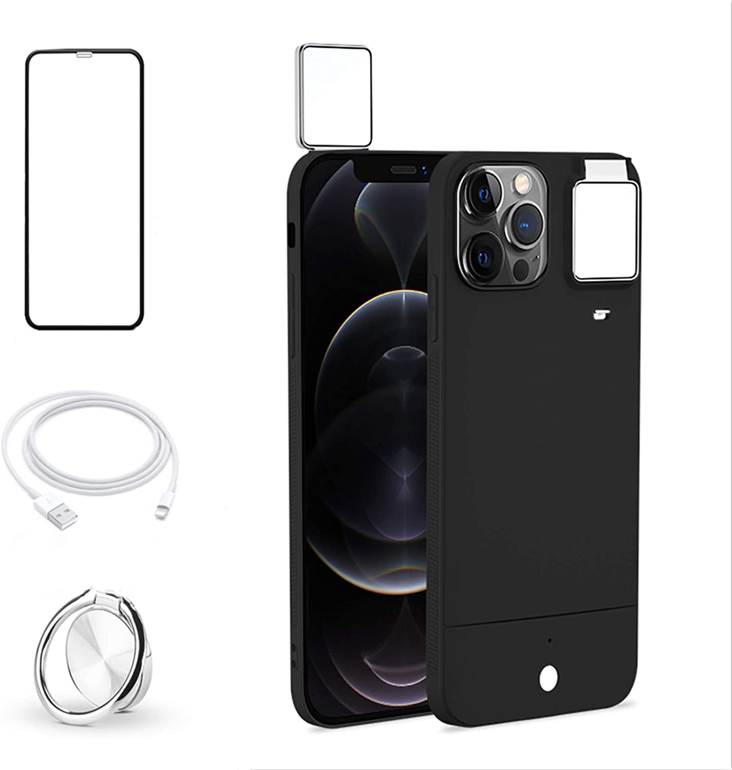 HPHRE Selfie Ring Light Case Compatible withiPhone 12 Pro Max 6.7