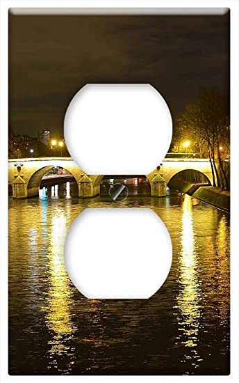 Switch Plate Outlet Cover Seine River Bridge Pont Marie Night Paris France Amazon Com