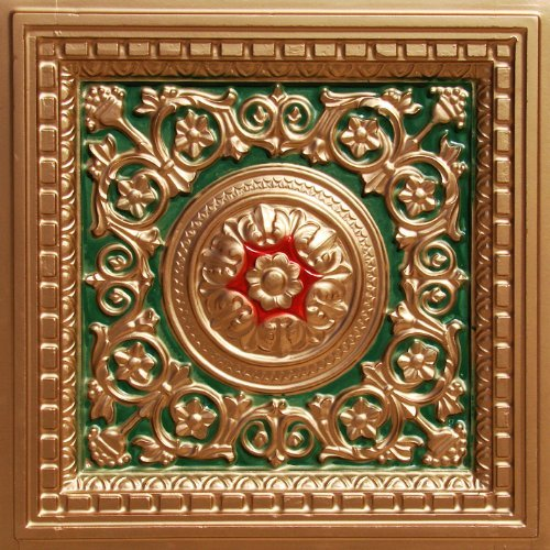 Decorative Plastic Ceiling Tile Vc-2 Gold Green Red PACK of 10 Tiles 3 Dementia l.