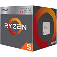 AMD Ryzen 5 2400G Processor with Radeon RX Vega 11 Graphics 4 AM4 YD2400C5FBBOX