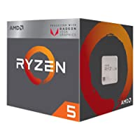 AMD YD2400C5FBBOX Ryzen 5 2400G CPU with Wraith Stealth Cooler and RX Vega Graphics - Black