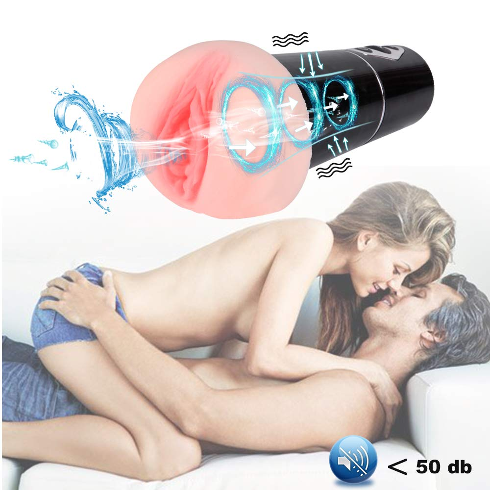 Male Masturbator Cup with 5 Modes of Suction Stimulation and 10 Vibration Modes,Lnabni 3D Realistic Vagina Masturbation Stroker Rechargeable Automatic Oral Sex Toys for Men