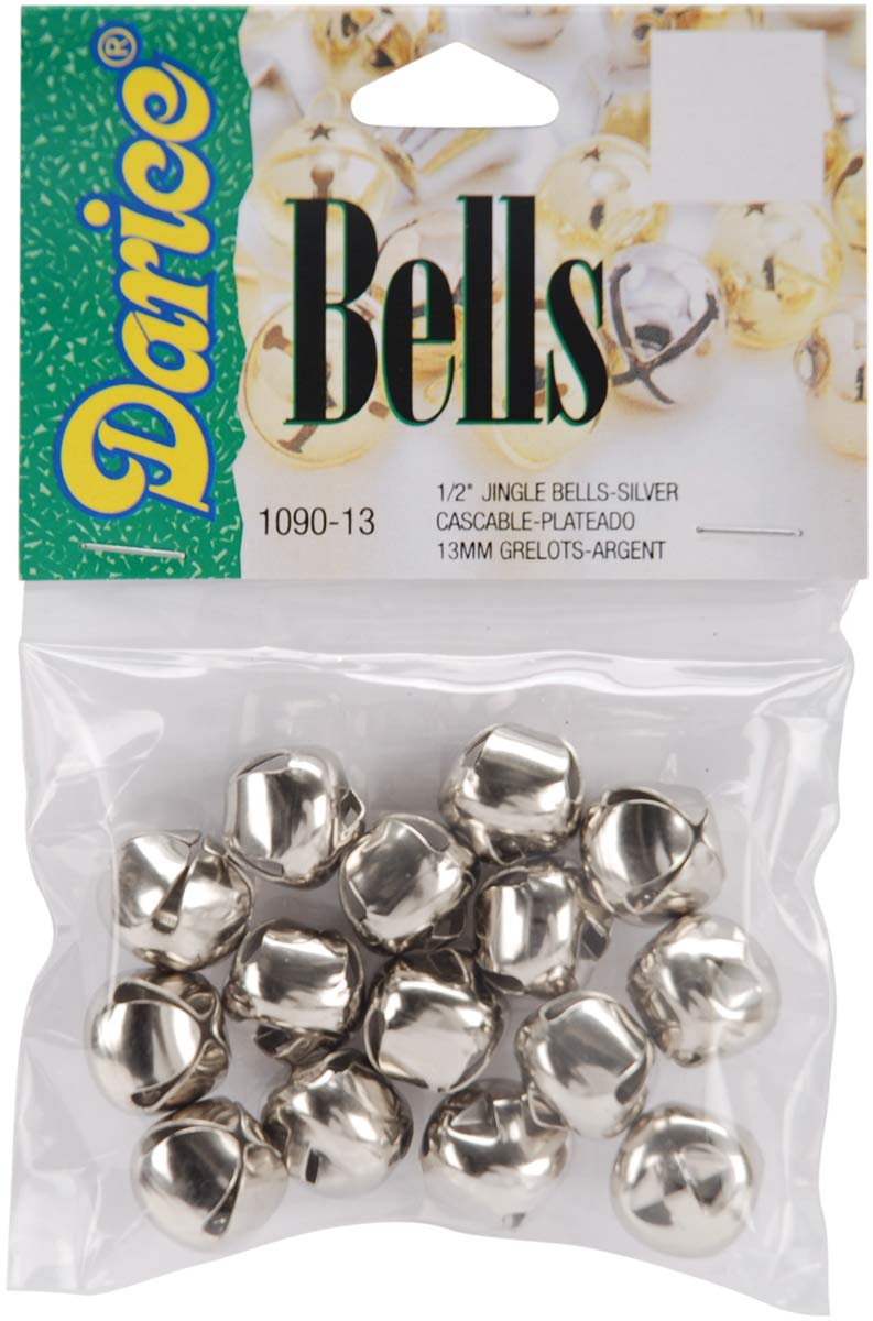 Jingle Bells Silver 0.5 Inch (4 Pack)