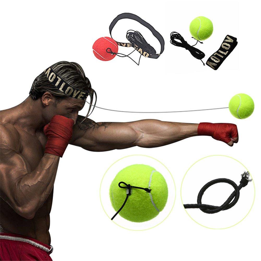 bola de entrenamiento de boxeo banda para la cabeza lucha bola Reflex m/úsculos cuerpo deporte ejercicio para MMA Bloomma Boxeo bola Boxeo y otros Combat