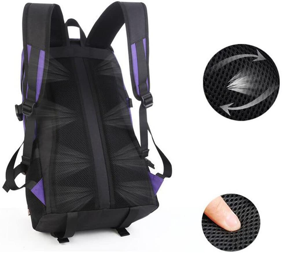 JBHURF Travel Backpack Korean Version of The Large-Capacity Backpack Trend Casual Backpack Backpack Purple Color : Blue