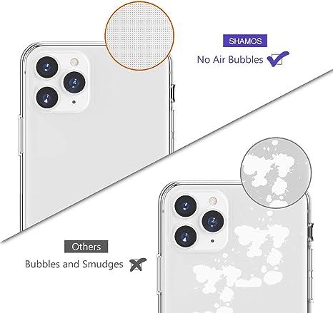 Suave TPU Gel Fina Protecci/ón a C/ámara y Bordes Carcasa Absorci/ón de Impacto Shamos Funda iPhone 11 Pro MAX Transparente