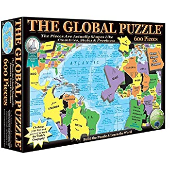 Amazon ts shure map of the world jigsaw puzzle 200 piece the global puzzle 600 piece gumiabroncs Images
