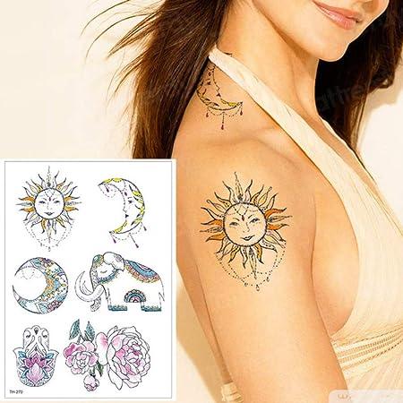 Handaxian 3pcs-Female Leg Tattoo Rose y Snake Tattoo Art Muslo ...